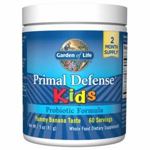 childrens probiotic - Primal Defense Kids (banna flavored).